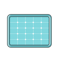 solar battery icon in cartoon style vector image
