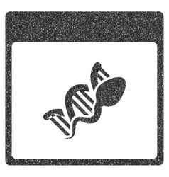 Sperm DNA Replication Calendar Page Grainy Texture vector image