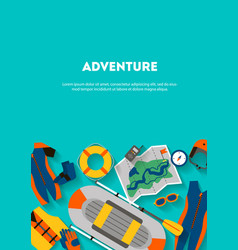Vertical banner equipment for outdoor activities vector