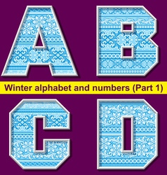winter abc 01 vector image vector image