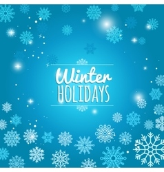 Winter holiday blue snowflakes background vector