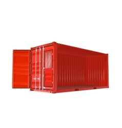 Red container vector