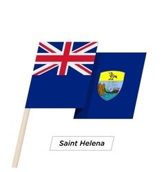 Saint helena ribbon waving flag isolated on white vector