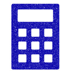 calculator icon grunge watermark vector image