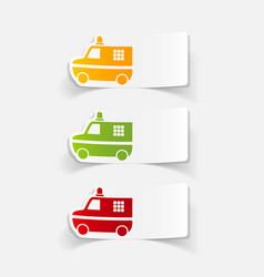 Realistic design element police car vector