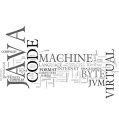 Java virtual machine text background word cloud vector