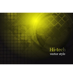 Yellow hi-tech background vector image