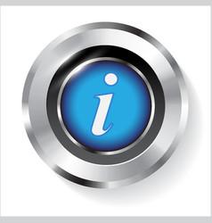 Information sign info circle metal symbol vector