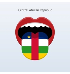 Central african republic language abstract human vector