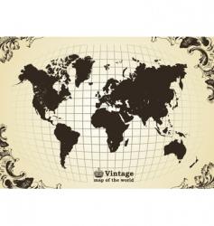 vintage map vector image