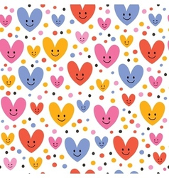 Cute hearts pattern 2 vector