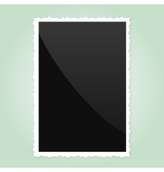 Retro photo frame on green background vector