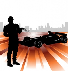 formula and race car vector image