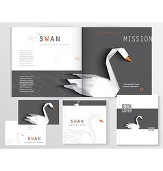 Business stationary branding templates vector