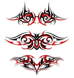 Gothic style tattoo set vector