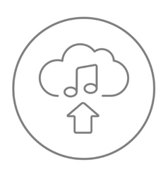 Upload music line icon vector