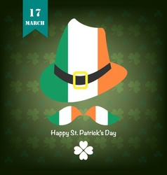 St patrick background green vector