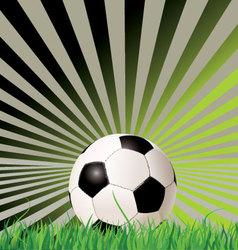 soccer ball retro background vector image