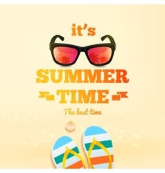 Summer poster its summer time typographic vector