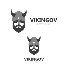 Viking head logo design Head of warrior vector image
