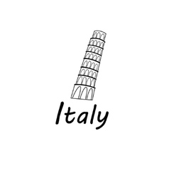 Sign leaning tower of pisa vector