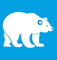 Bear icon white vector