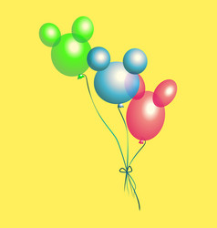 bright multicolored balloons vector image vector image