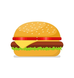 Burger in flat style vector image