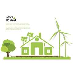 Creative renewable energy concept vector