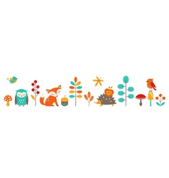 Cute autumn vector image vector image