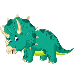 Cute triceratops cartoon for you design vector