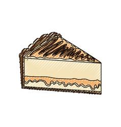 delicious piece of cake vector image vector image