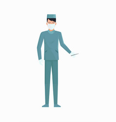 doctor with scalpel icon vector image