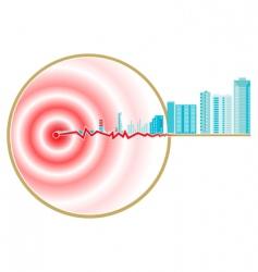 earthquake epicenter vector image