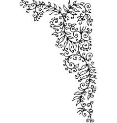 Floral vignette cccxc vector
