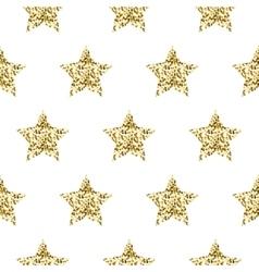 Gold foil shimmer glitter star seamless pattern vector image