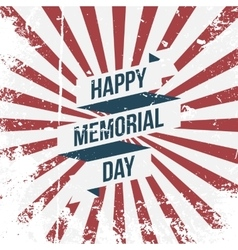 Happy Memorial Day Ribbon and Text vector image vector image