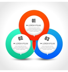 Infographics template with with three circular vector image vector image