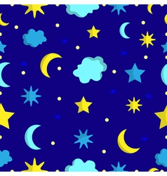 Night sky seamless pattern in vector image