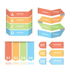 Option banner infographics set vector
