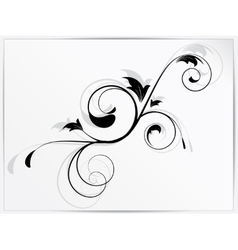 Ornamental floral element with swirls vector image