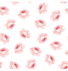 Pink rose spring summer floral seamless pattern vector