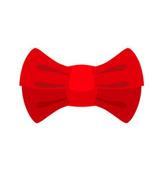 Red bow tie isolated fashion accessory at vector