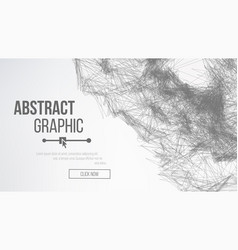 Science background connecting dots and lines vector