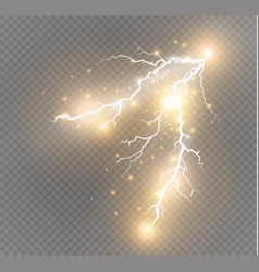 set of lightnings magic and bright lighting vector image vector image