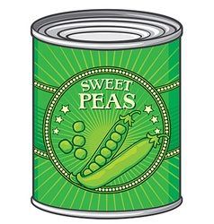 Sweat peas can vector