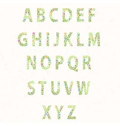 Texture flower font vector image vector image