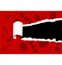 torn party paper vector image