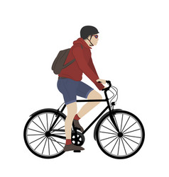 urban city bicycle adult male commuter young man vector image