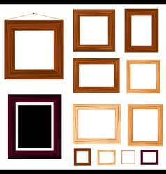 Wooden frame vector